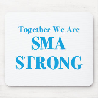 SMA Strong - Light Blue Mouse Pad
