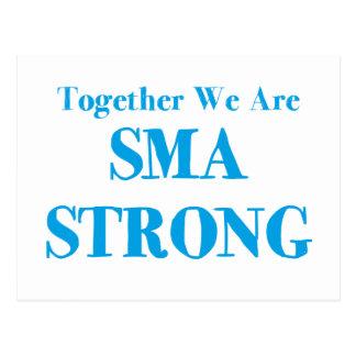 SMA Strong - Light Blue Postcard
