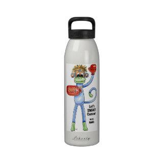 ¡SMAC! Botella de agua del mono - boxeo de NoMo