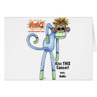 ¡SMAC! Monos del calcetín contra el ejemplo del cá Tarjeta De Felicitación