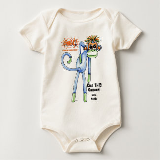 SMAC! Sock Monkeys Against Cancer Illustration Baby Bodysuit