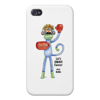 "SMAC! ""Sock Monkeys Against Cancer"" Merchandise iPhone 4/4S Cover"