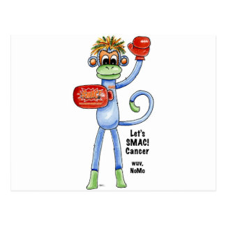 "SMAC! ""Sock Monkeys Against Cancer"" Merchandise Postcard"