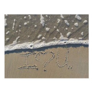 SMAHT LIFE I LOVE YOU POST CARD BEACH PHOTO