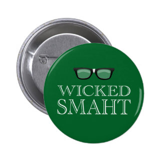 Smaht travieso (Smart) Boston habla humor Pin Redondo 5 Cm