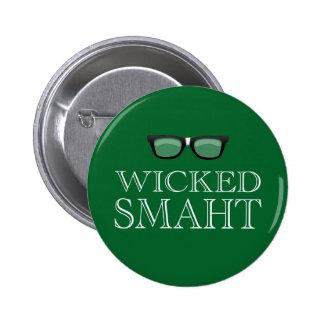 Smaht travieso (Smart) Boston habla humor Pin Redondo De 2 Pulgadas