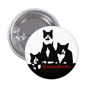 "Small 1 1/4"" TuxedoTrio Button"