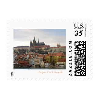 "Small, 1.8"" x 1.3"" Postage Sheet, Prague"
