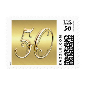 SMALL 50th Anniversary All Gold Postage