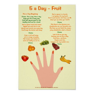 small 5 a day poster