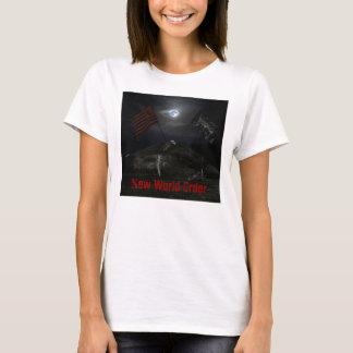 """small ACOMA """"NEW WORLD ORDER"""" baby doll shirt"""