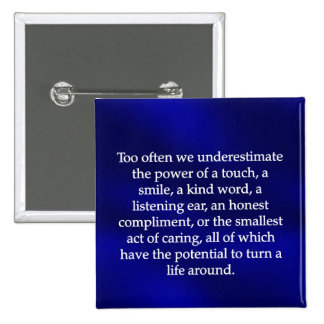 Small Acts of Caring 2 Inch Square Button