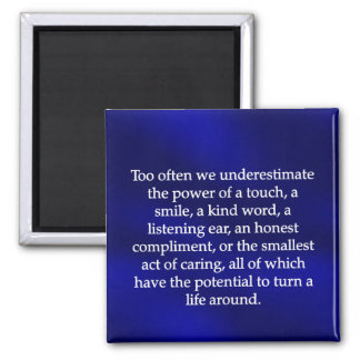 Small Acts of Caring 2 Inch Square Magnet