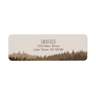 langdesignshop Small address label for rustic mountain wedding