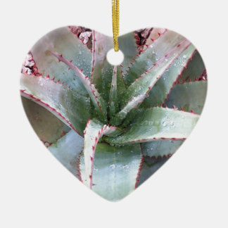 Small agave ceramic ornament