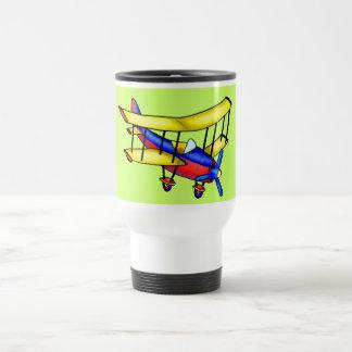 Small airplane 15 oz stainless steel travel mug