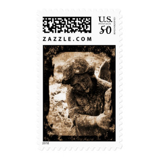 Small Angel0024-Sepia Postage