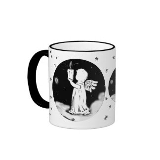 small angel with candle - Christmas cup