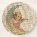 Small angle and the moon beverage coasters