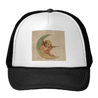 Small angle and the moon mesh hat