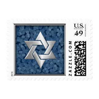 SMALL Any Color Background w/ Silver Star of David Stamps
