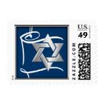 SMALL Any Color Background with Star of David Postage