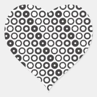 Small Aperture Heart Sticker