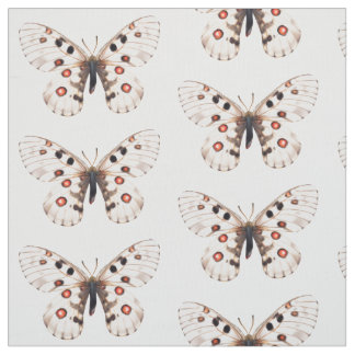 Small Apollo Butterflies Tiled Fabric