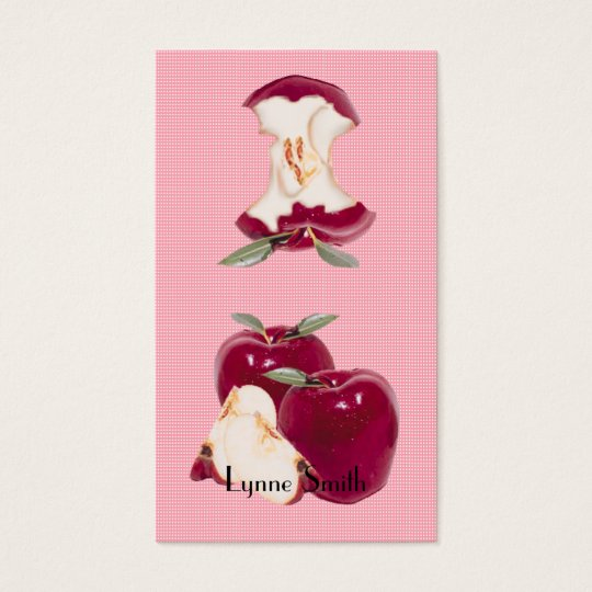Small Apple Bookmark - add your own magnet Business Card