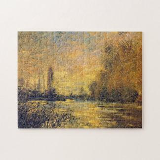 Small Arm of Seine Argenteuil Monet Fine Art Puzzle