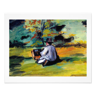 Small art flyers hand outs Cezanne painter at work