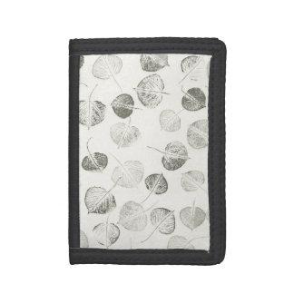 Small Aspen Leaf Prints Tri-fold Wallets