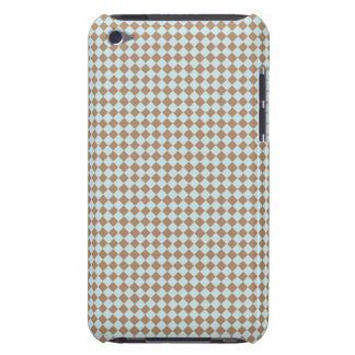 Small Baby Blue & Brown Checkered Barely There iPod Case