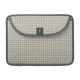 Small Baby Blue & Brown Checkered MacBook Pro Sleeve