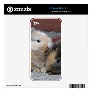 SMALL BABY RABBITS iPhone 4S SKIN