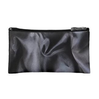 Small Bag: Bright Black Silk Fabric. Magic Makeup Bag