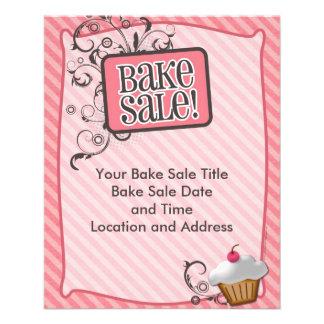 Small Bake Sale Flyers, Sweet Pink Swirls Flyer
