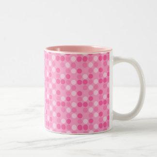 Small balls rose Two-Tone coffee mug