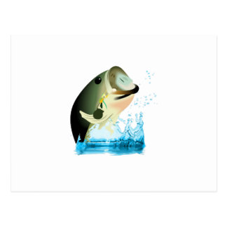 SMALL BASS FISH POSTCARD
