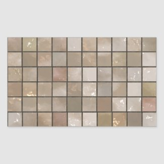 Small Bathroom Floor Tile Background sticker