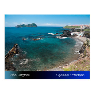 Small bay and islet postcard