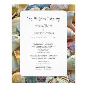 Small Beach Wedding Seashell Wedding Program
