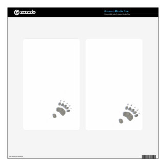 Small Bear Track Template Decal For Kindle Fire