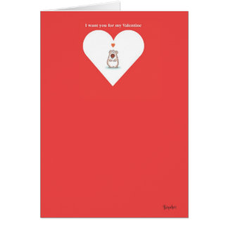 SMALL BEAR Valentine by Boynton Card