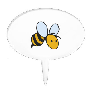 SMALL BEE CAKE TOPPERS