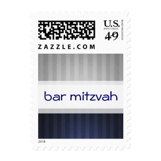 SMALL BiColor Stripe Bar Mitzvah Postage Stamp
