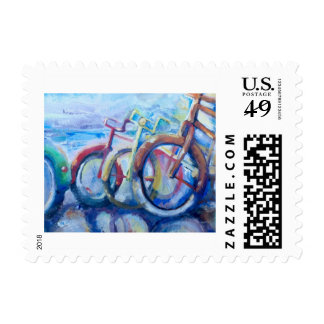 Small Bicycle Print Postage Stamps