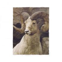 Small Big Horn Sheep Fleece Blanket