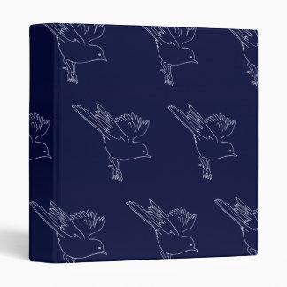 Small Bird blue Binders