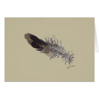 Small Bird Feather Card